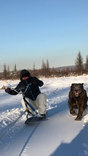 At the families Cabin enjoying winter fun!