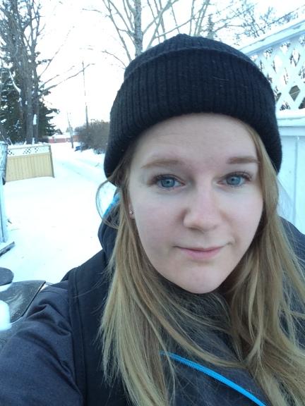 Selfie before a ski trip!